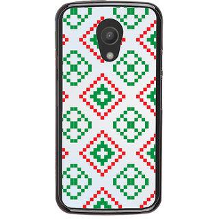 Ayaashii Red Green Logo Pattern Back Case Cover for Motorola Moto G2 X1068::Motorola Moto G (2nd Gen)