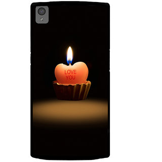 Ayaashii Love You Candle Back Case Cover for One Plus X::One + X
