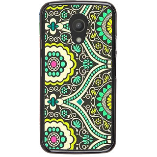 Ayaashii Rangoli Pattern Back Case Cover for Motorola Moto G2 X1068::Motorola Moto G (2nd Gen)