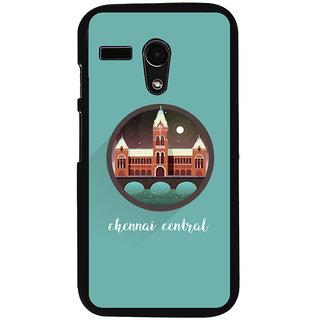 Ayaashii Chennai Central Back Case Cover for Motorola Moto G X1032::Motorola Moto G (1st Gen)