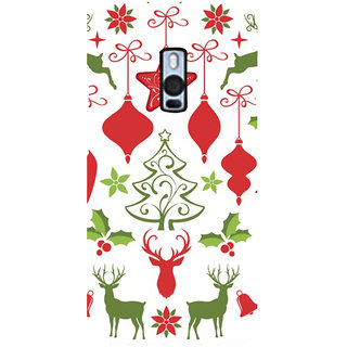 Ayaashii Chirstmas Star & Tree Back Case Cover for One Plus Two::One Plus 2::One+2