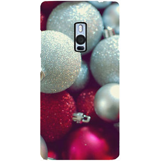 Ayaashii Chirstmas Balls Back Case Cover for One Plus Two::One Plus 2::One+2