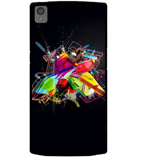 Ayaashii Colorful Illustration Back Case Cover for One Plus X::One + X