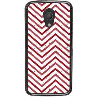 Ayaashii Zigzag Pattern Back Case Cover for Motorola Moto G2 X1068::Motorola Moto G (2nd Gen)