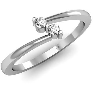 Jewel Hub SI-IJ Diamond  Ring 0.08 Ct /2.29 Gm 18k White Gold