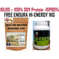 10LBS -Pure Soy Protein Isolated 90% --Natural Flavor-SOY - EDNURA HI-ENERY 1KG FREE