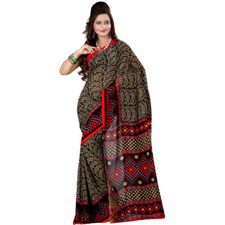 Aaliya Black Colored Georgette Printed Saree QSHSR9084BOC