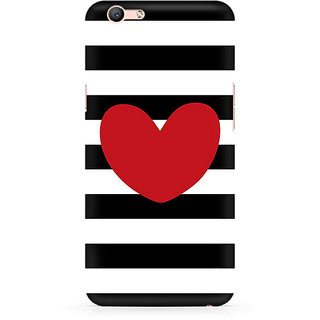 CopyCatz Red On Black And White Premium Printed Case For Oppo F1S