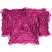 ROSE CUSHION COVER PURPLE 5 PCS SET (30 X 30 CMS)