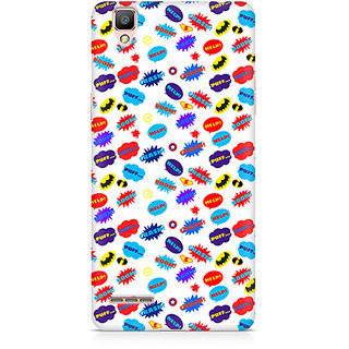 CopyCatz All Superheroes On White Clipart Premium Printed Case For Oppo F1
