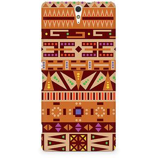 CopyCatz Tribal Alphabets Premium Printed Case For Sony Xperia C5