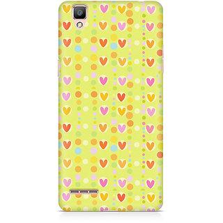 CopyCatz Cute Colorful Hearts Premium Printed Case For Oppo F1 Plus