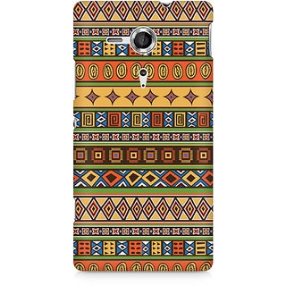 CopyCatz Orange Tribal Strips Premium Printed Case For Sony Xperia SP M35H