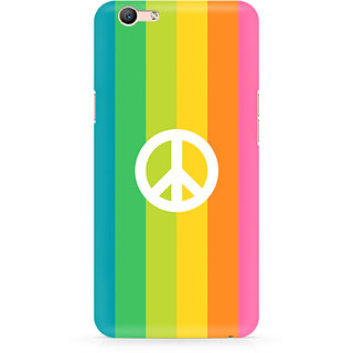 CopyCatz Colorful Peace Premium Printed Case For Oppo F1S