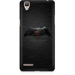CopyCatz Batman Vs Superman Logo Premium Printed Case For Oppo F1 Plus