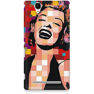 CopyCatz Red On Black And White Premium Printed Case For Sony Xperia T2