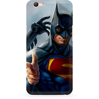 CopyCatz Superman With Batman Mask Premium Printed Case For Oppo F1S