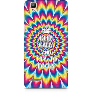 CopyCatz Keep Calm And Focus Trippy Premium Printed Case For Oppo F1