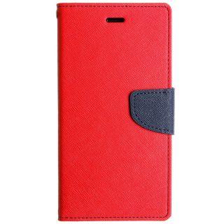 Micromax Canvas Nitro 2 E311 WALLET CASE COVER FLIP COVER RED