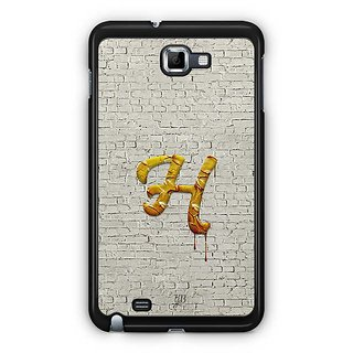 YuBingo Monogram With Beautifully Written Paint Finish Letter H Designer Mobile Case Back Cover For Samsung Galaxy Note