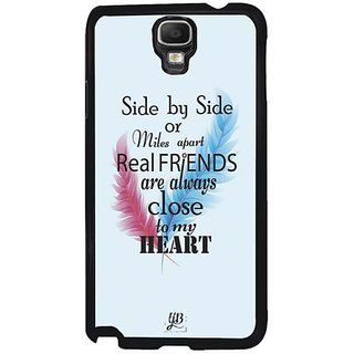 YuBingo Real Friends Are Close To My Heart Designer Mobile Case Back Cover For Samsung Galaxy Note 3 Neo