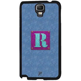 YuBingo Monogram With Beautifully Written Jeans And Girly Leather Finish Letter R Designer Mobile Case Back Cover For Samsung Galaxy Note 3 Neo