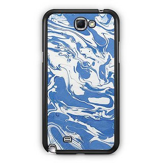 YuBingo Blue White Marble Finish (Plastic) Designer Mobile Case Back Cover For Samsung Galaxy Note 2