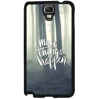 YuBingo Make Things Happen Designer Mobile Case Back Cover For Samsung Galaxy Note 3 Neo