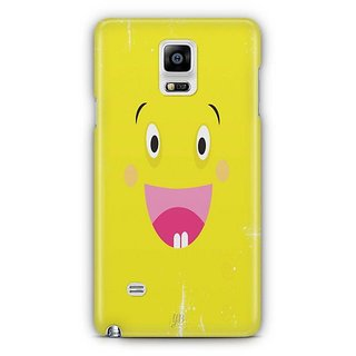 YuBingo Excited Smiley Designer Mobile Case Back Cover For Samsung Galaxy Note 4