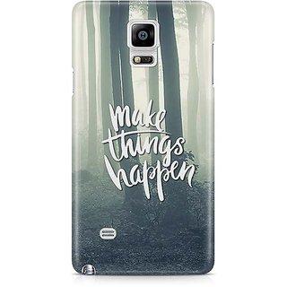YuBingo Make Things Happen Designer Mobile Case Back Cover For Samsung Galaxy Note 4