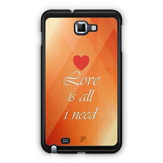 YuBingo Love Is All I Need Designer Mobile Case Back Cover For Samsung Galaxy Note