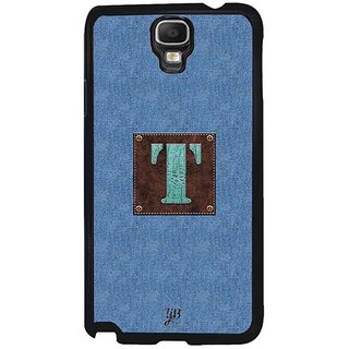 YuBingo Monogram With Beautifully Written Jeans And Macho Male Leather Finish Letter T Designer Mobile Case Back Cover For Samsung Galaxy Note 3 Neo