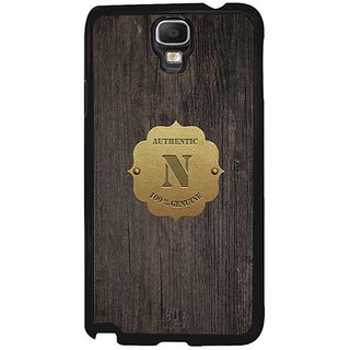 YuBingo Monogram With Beautifully Written Wooden And Metal (Plastic) Finish Letter N Designer Mobile Case Back Cover For Samsung Galaxy Note 3 Neo