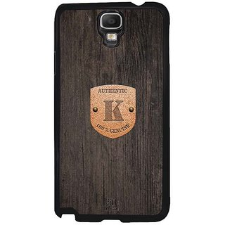 YuBingo Monogram With Beautifully Written Wooden And Metal (Plastic) Finish Letter K Designer Mobile Case Back Cover For Samsung Galaxy Note 3 Neo