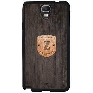 YuBingo Monogram With Beautifully Written Wooden And Metal (Plastic) Finish Letter Z Designer Mobile Case Back Cover For Samsung Galaxy Note 3 Neo