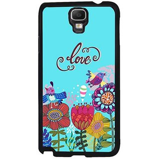 YuBingo Love And Flowers Designer Mobile Case Back Cover For Samsung Galaxy Note 3 Neo