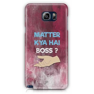 YuBingo What'S The Matter, Boss? Designer Mobile Case Back Cover For Samsung Galaxy Note 5