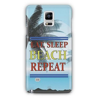 YuBingo Travel, Sleep, Beach, Repeat Designer Mobile Case Back Cover For Samsung Galaxy Note 4