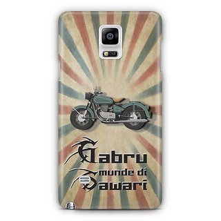 YuBingo Gabru Munde Di Sawari Designer Mobile Case Back Cover For Samsung Galaxy Note 4