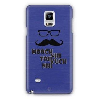 YuBingo Mooch Nahi To Kuch Nahin Designer Mobile Case Back Cover For Samsung Galaxy Note 4