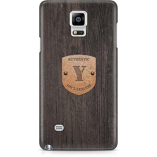 YuBingo Monogram With Beautifully Written Wooden And Metal (Plastic) Finish Letter Y Designer Mobile Case Back Cover For Samsung Galaxy Note 4