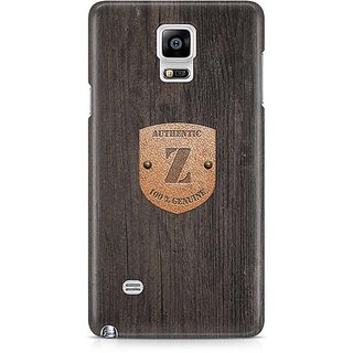 YuBingo Monogram With Beautifully Written Wooden And Metal (Plastic) Finish Letter Z Designer Mobile Case Back Cover For Samsung Galaxy Note 4