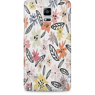 YuBingo Multi Colour Flowers Pattern Designer Mobile Case Back Cover For Samsung Galaxy Note 4