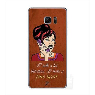 YuBingo I Talk A Lot, Therefore I Have A Pure Heart Designer Mobile Case Back Cover For Samsung Galaxy Note 7