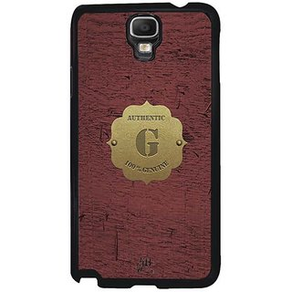 YuBingo Monogram With Beautifully Written Wooden And Metal (Plastic) Finish Letter G Designer Mobile Case Back Cover For Samsung Galaxy Note 3 Neo