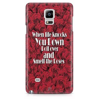 YuBingo When Life Knocks You Down, Roll Over And Smell The Roses Designer Mobile Case Back Cover For Samsung Galaxy Note 4