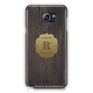 YuBingo Monogram With Beautifully Written Wooden And Metal (Plastic) Finish Letter R Designer Mobile Case Back Cover For Samsung Galaxy Note 5