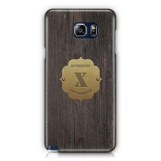 YuBingo Monogram With Beautifully Written Wooden And Metal (Plastic) Finish Letter X Designer Mobile Case Back Cover For Samsung Galaxy Note 5