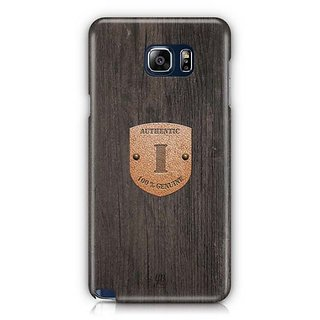 YuBingo Monogram With Beautifully Written Wooden And Metal (Plastic) Finish Letter I Designer Mobile Case Back Cover For Samsung Galaxy Note 5
