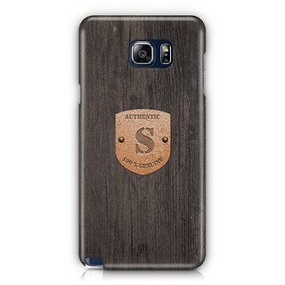 YuBingo Monogram With Beautifully Written Wooden And Metal (Plastic) Finish Letter S Designer Mobile Case Back Cover For Samsung Galaxy Note 5